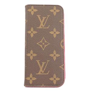 Auth Louis Vuitton Monogram Folio X M63444 Flip Case Rose