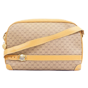 Auth Gucci Shoulder Bag Micro Gucci Women's PVC