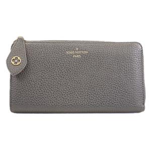 Auth Louis Vuitton Taurillon  Portefeuille Comète M63102  Women's  Long Wallet (bi-fold) Noir