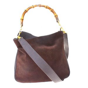 Gucci Bamboo 2Way Leather,Bamboo Shoulder Bag Brown
