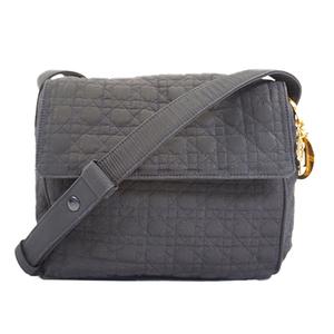 Auth Christian Dior Cannage/Lady Dior  Shoulder Bag Women's Black
