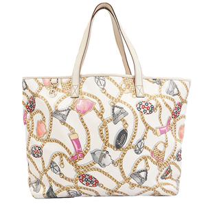 Auth Gucci Horsebit  Tote Bag 154402 Tote Bag White
