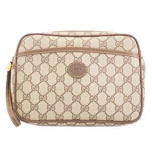 Auth Gucci Clutch Bag GG Supreme 014 58 0128 Men,Women,Unisex GG Supreme Clutch