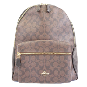 Auth Coach Rucksack F58314 Women's Leather Backpack Signature