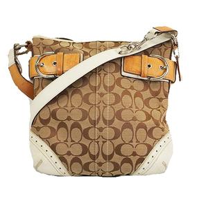 Auth Coach Signature 1487 Shoulder Bag Duffel Shoulder Bag