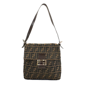 Auth Fendi Zucca  Handbag Women's Canvas Tote Bag Brown