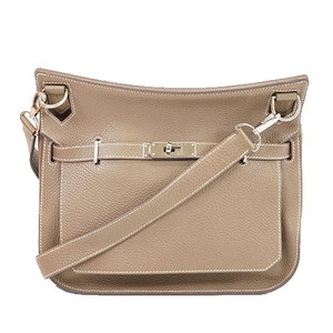 Auth Hermes   Jypsiere28 CStamp Women's Shoulder Bag Taupe