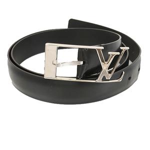 Auth Louis Vuitton Monogram Saint Tulle Anagram M9840 Men's Belt Black