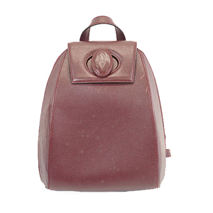 Auth Cartier Must  Rucksack Women's Leather Backpack Bordeaux