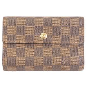 Auth Louis Vuitton Damier Portefeuille Alexandra N63067 Women's Wallet (tri-fold)