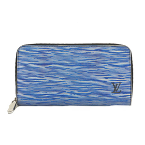 Auth Louis Vuitton Epi Denim Zippy Wallet M61857