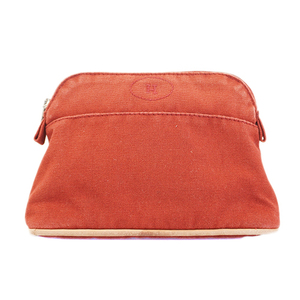 Auth Hermes Bolide  Pouch 20 Women's Canvas Pouch Red Color