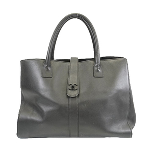 Auth Chanel Tote Bag Women's Leather Tote Bag