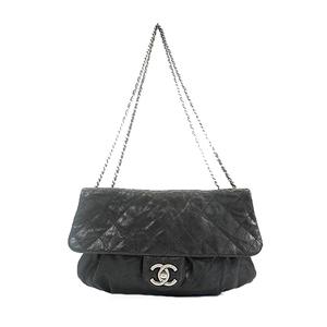 Chanel ショルダーバッグ  Shoulder Bag Women's Caviar Leather Shoulder Bag Black