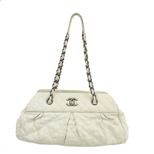 Auth Chanel Matelasse Chain Tote Bag Women's Leather Tote