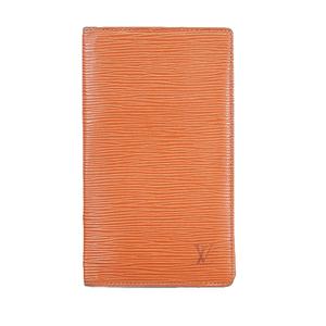 Auth Louis Vuitton Epi Porto Shekie Cult Credit M63733 Men's Epi Leather Long Wallet (bi-fold) Kenyan Brown