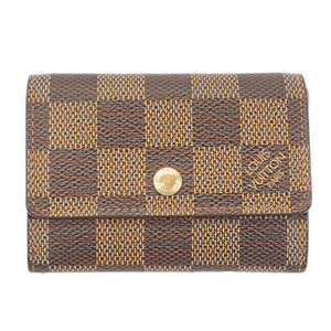 Auth Louis Vuitton Damier N61930 Damier Canvas Wallet Ebene