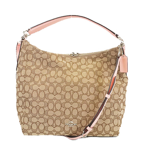 Auth Coach Signature Shoulder Bag F658327 Women's Canvas