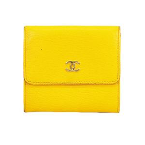 Auth Chanel  Wallet Women's Leather Wallet (bi-fold) Yellow