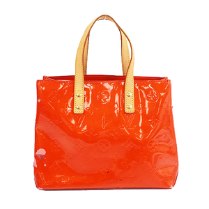 Auth Louis Vuitton Monogram Vernis M91088 Women's Tote Bag Rouge