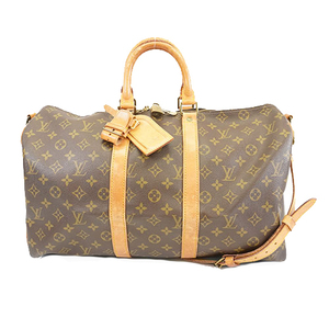 Auth Louis Vuitton Monogram Keepall Bandouliere 45 M41418