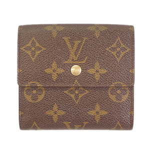 Auth Louis Vuitton Monogram  Porte Monnaie Billet Carte Credit M61652 Women's Monogram Wallet (tri-fold) Brown