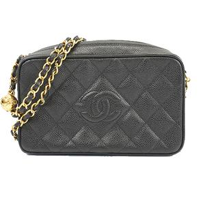 Auth Chanel Matelasse Shoulder Bag Women's Caviar Leather