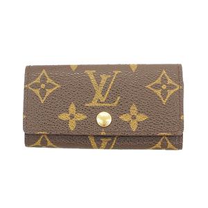 Auth Louis Vuitton Monogram Multicles4 M62631 Men,Women,Unisex Monogram Key Case
