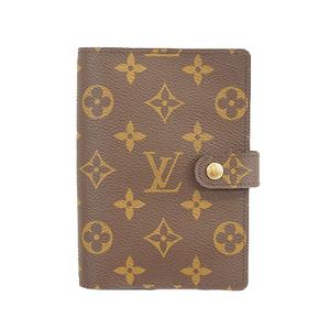 Auth Louis Vuitton Monogram Agenda PM R20005 Planner Cover Monogram