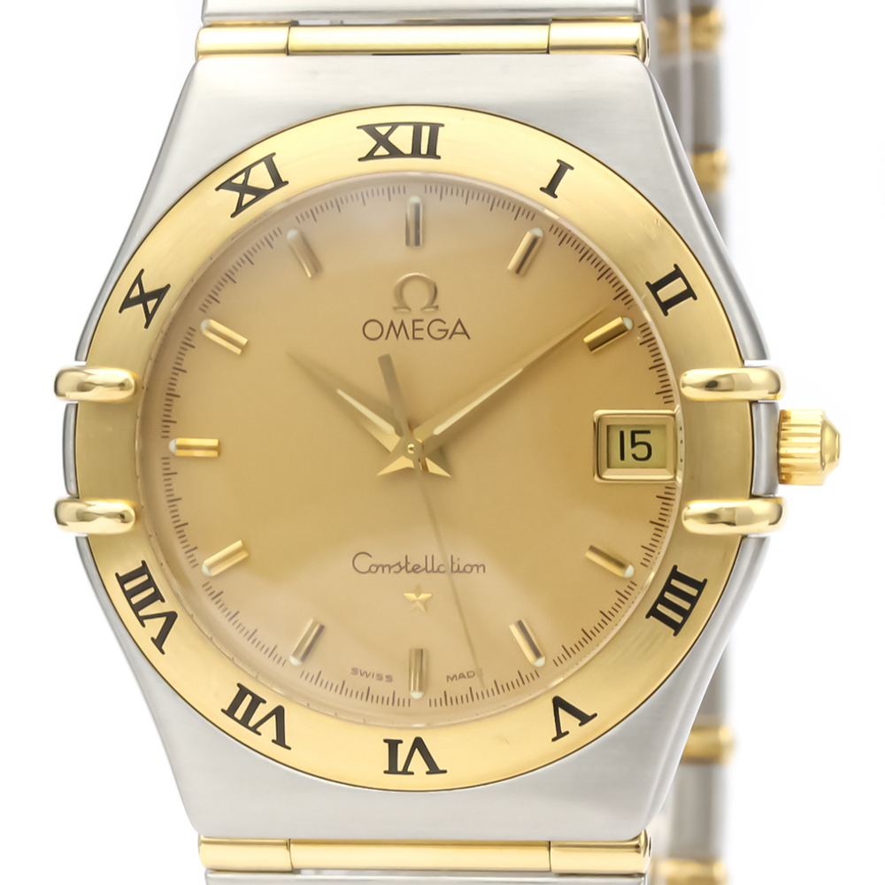 Omega Constellation Quartz Stainless Steel,Yellow Gold (18K) Men's Dress Watch 1212.10