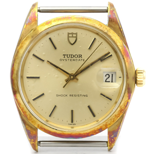 Tudor Oyster Mechanical Gold Plated Men's Dress Watch 7992/1