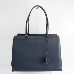 Goyard Bellechasse Biaude CG12CL12P Women's Leather Tote Bag Navy