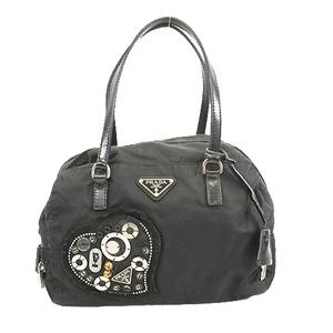 プラダ ハンドバッグ テスート ブラック シルバー金具