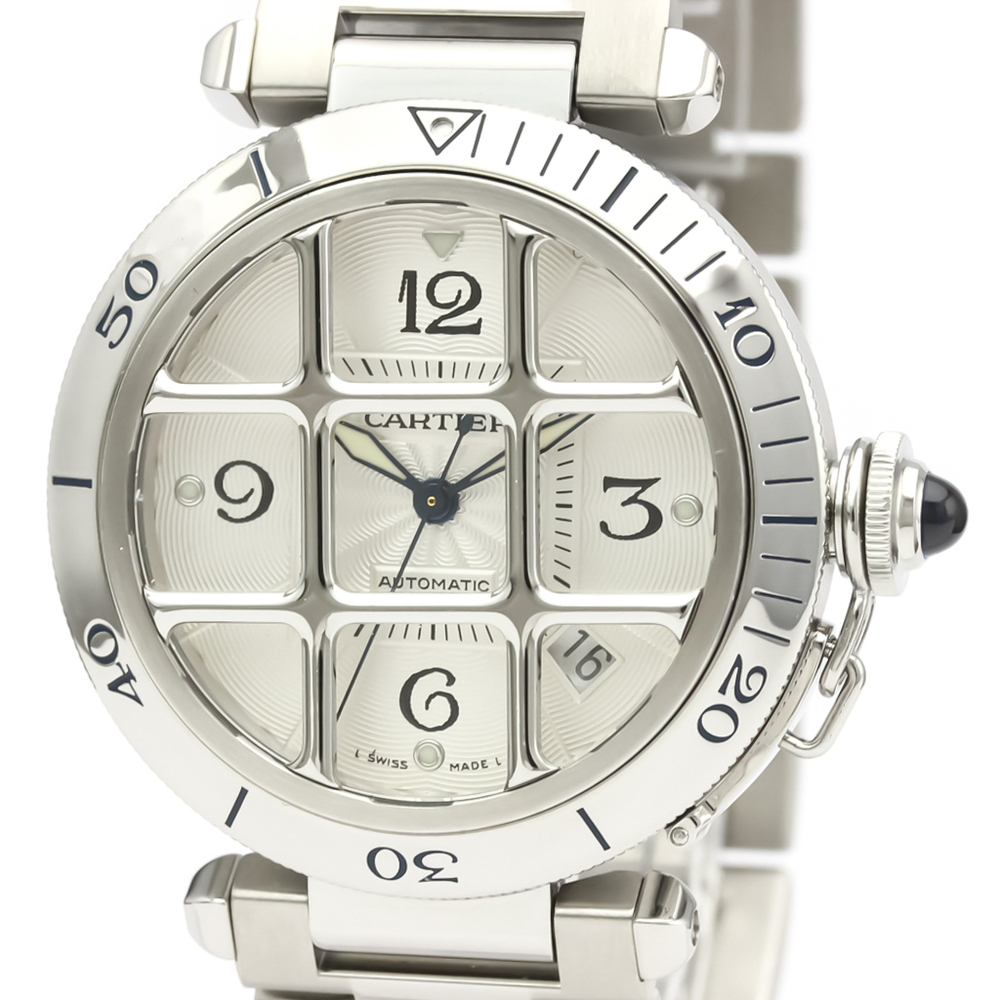 Cartier Pasha 38 Automatic Stainless Steel Men's Dress Watch W31040H3