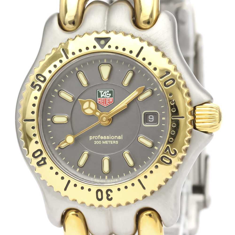 【TAG HEUER】タグホイヤー セル プロフェッショナル 200M ゴールドプレート ステンレススチール クォーツ レディース 時計 WG1320
