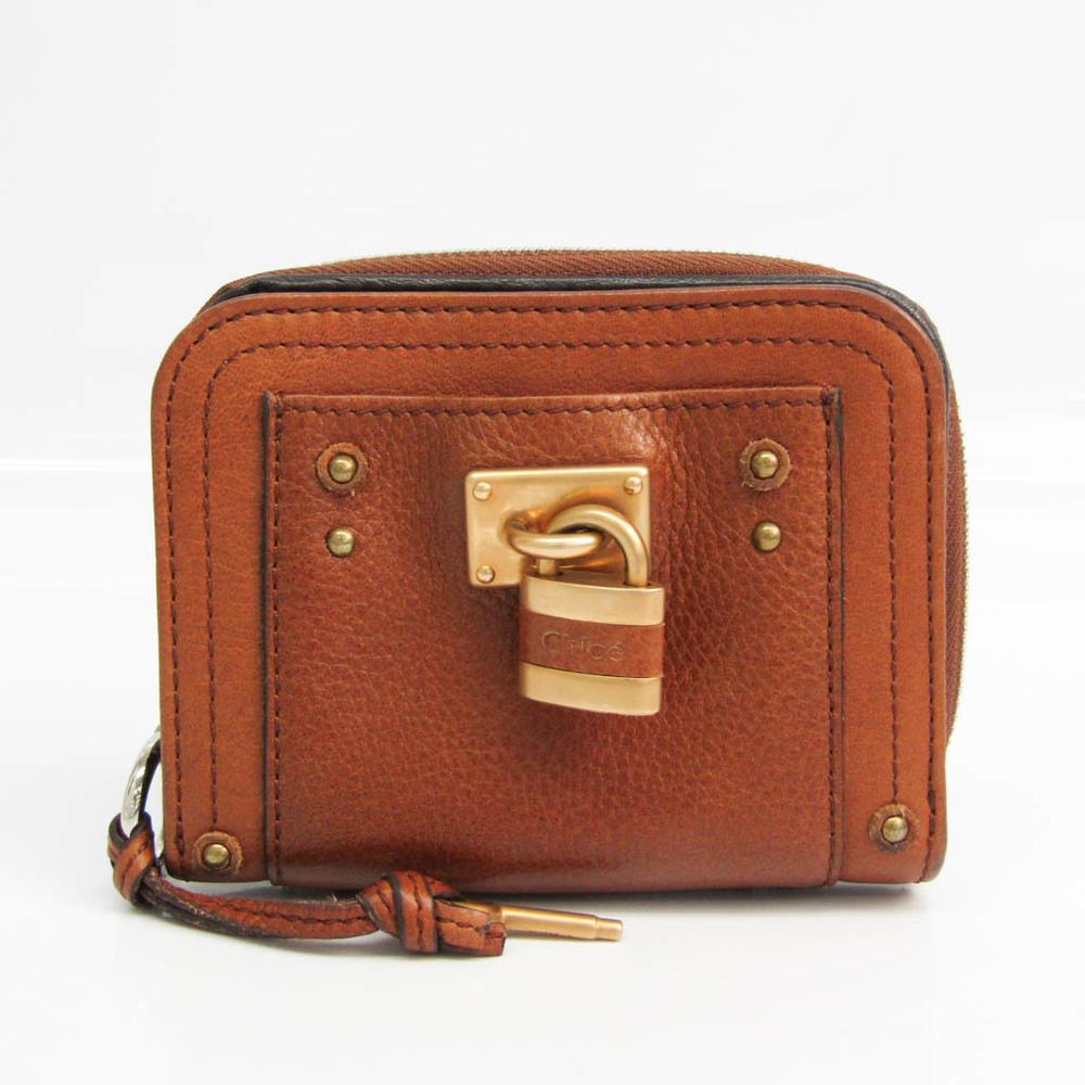 Chloé PADDINGTON 7EPM09 Women's Leather Wallet (bi-fold) Brown