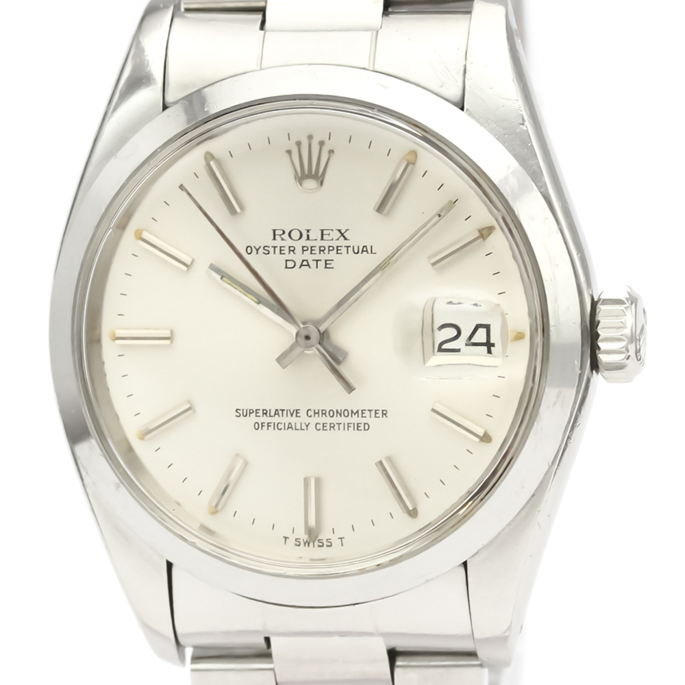 ROLEX Oyster Perpetual Date 1500 Steel Automatic Mens Watch