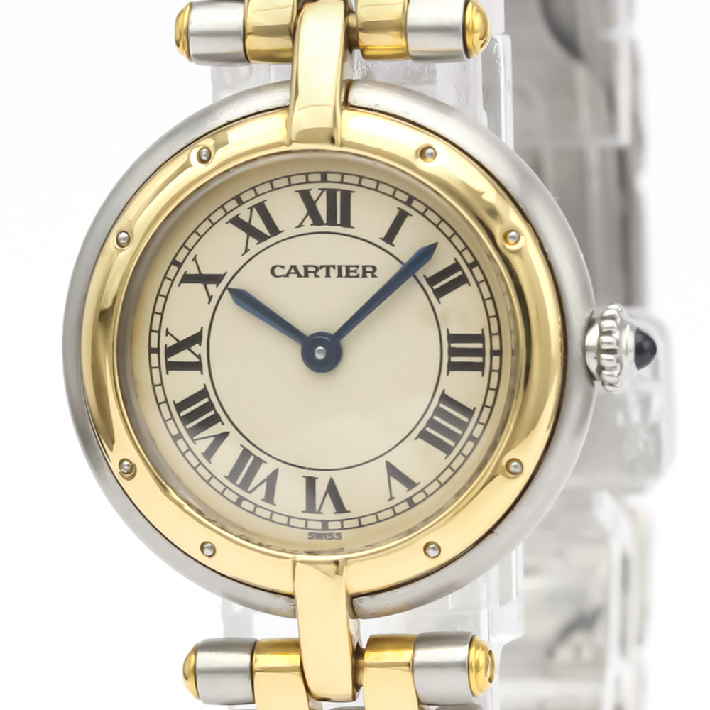 Cartier Panthere Round Quartz Stainless Steel,Yellow Gold (18K) Women's Dress Watch W25030B6