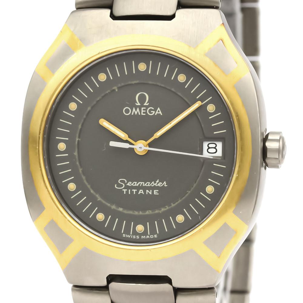 OMEGA Seamaster Polaris 18K Gold Titanium Quartz Watch 396.1022