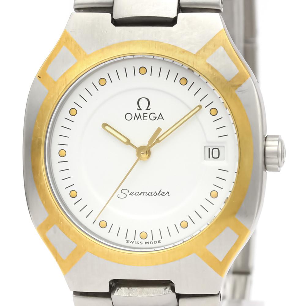 Omega Seamaster Quartz Stainless Steel,Yellow Gold (18K) Men's Dress Watch 396.1022