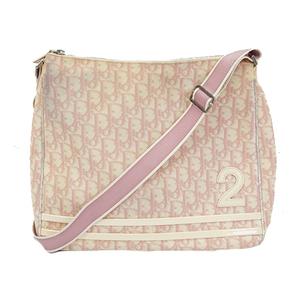 Christian Dior Trotter Shoulder Bag Women's Coated Canvas Shoulder Bag Pink