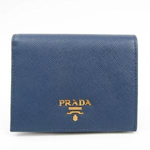 プラダ(Prada) 1MV204 ユニセックス Saffiano Metal 財布(二つ折り) Bluette(ブリエッタ)