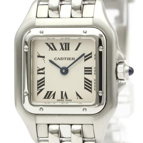 カルティエ(Cartier) パンテール・デ・カルティエ クォーツ ステンレススチール(SS) レディース ドレスウォッチ W25033P5