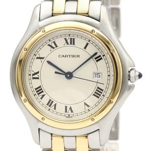 カルティエ(Cartier) パンテール クーガー クォーツ ステンレススチール(SS),K18イエローゴールド(K18YG) メンズ ドレスウォッチ 187904