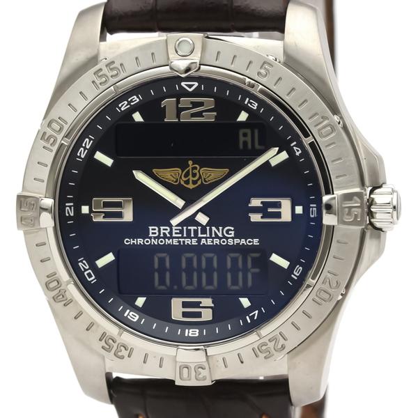 ブライトリング(Breitling) エアロスペース クォーツ チタン メンズ スポーツウォッチ E79362
