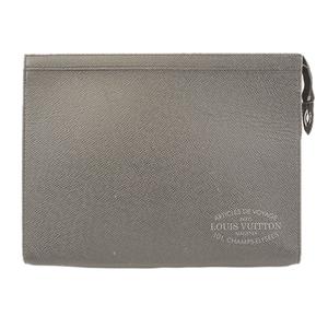 Auth Louis Vuitton Taiga Pochette Voyage M30395 Men's Clutch Bag Ardoise