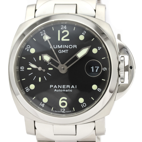 PANERAI Luminor GMT Steel Automatic Watch PAM 88 PAM00297