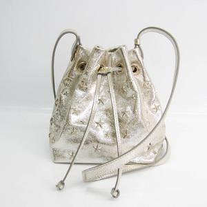 Jimmy Choo Women's Leather Shoulder Bag Champagne Gold