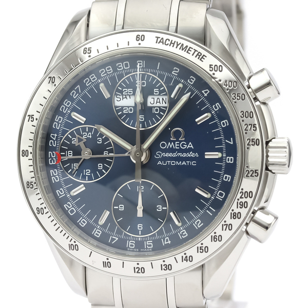 OMEGA Speedmaster Triple Date Steel Automatic Watch 3523.80