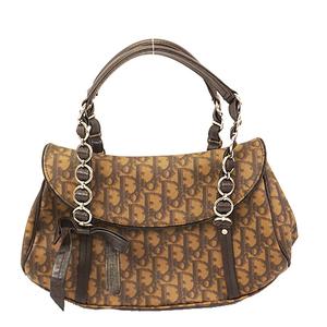 Christian Dior Trotter Handbag Women's PVC Handbag Brown